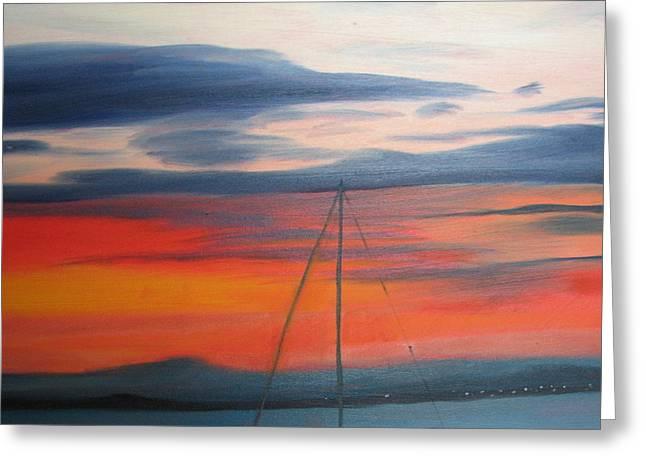 Sunset Greeting Card by Iris Nazario Dziadul
