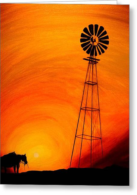 Sunset Greeting Card by J Vincent Scarpace