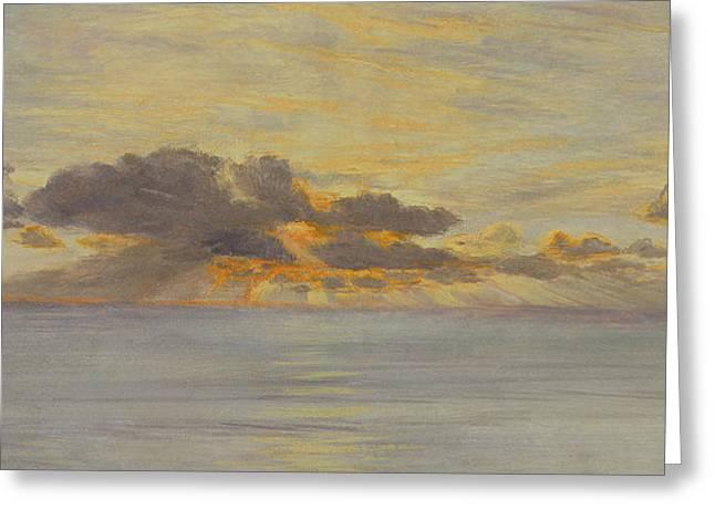 Sunset Greeting Card by John Brett