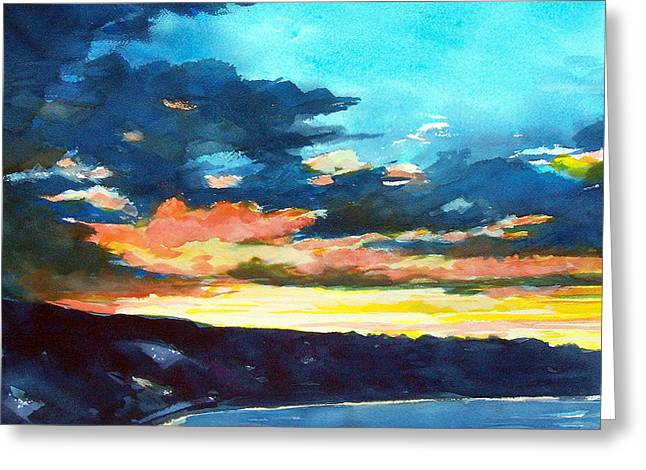 Sunset Greeting Card by Jon Shepodd