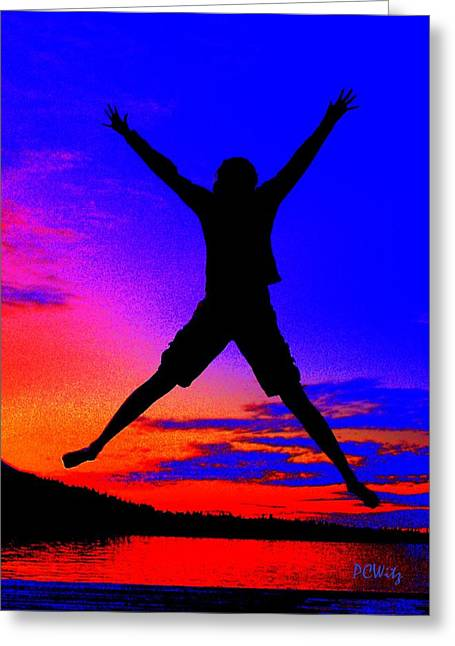 Greeting Card featuring the photograph Sunset Jubilation by Patrick Witz