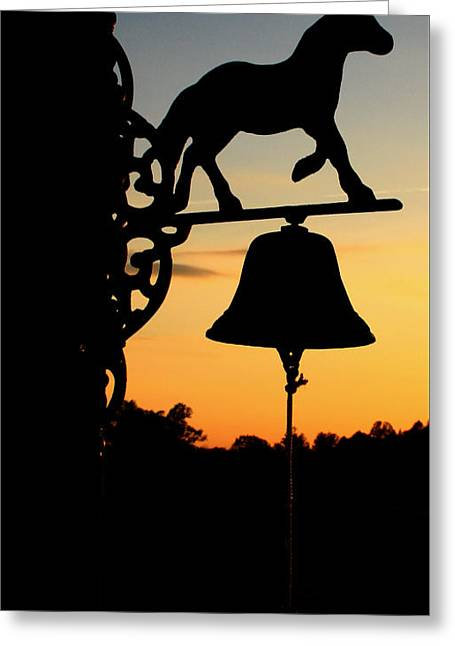 Greeting Card featuring the photograph Sunset by Karen Harrison