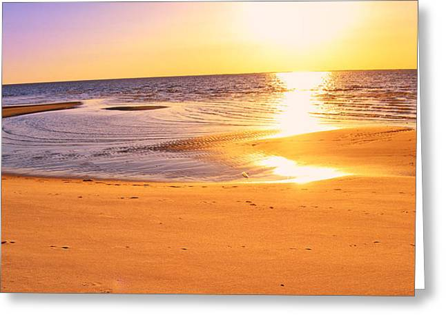 Greeting Card featuring the photograph Sunset by Kelly Reber