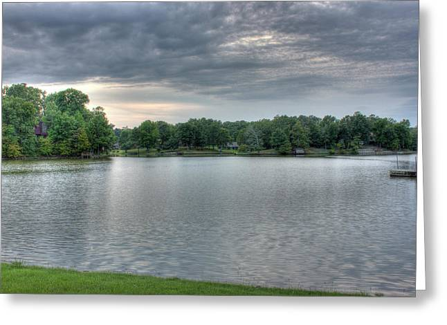 Sunset Lake Greeting Card by Barry Jones