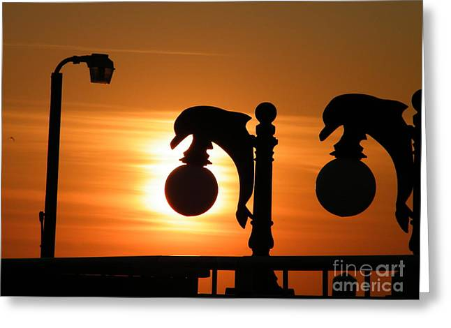 Sunset Lamp Greeting Card by Laurence Oliver