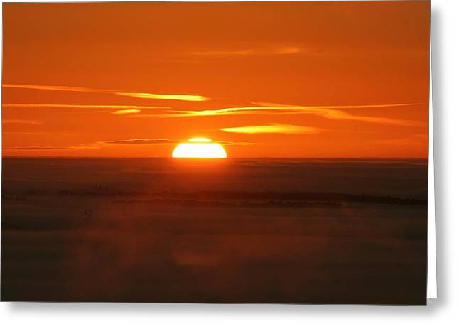 Sunset Greeting Card by Laurent Laveder