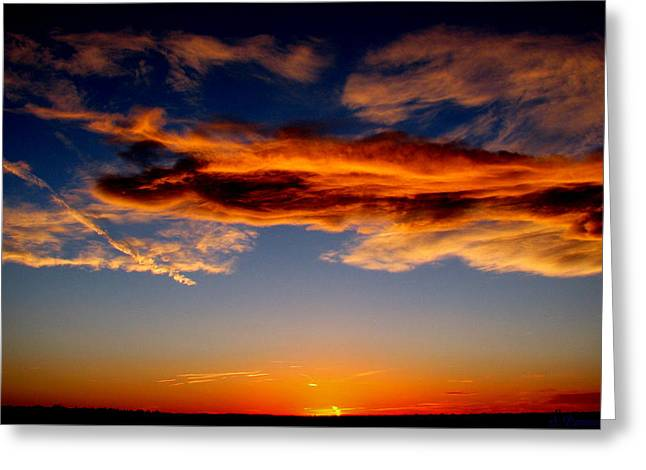 Sunset Layers Greeting Card by Aaron Burrows