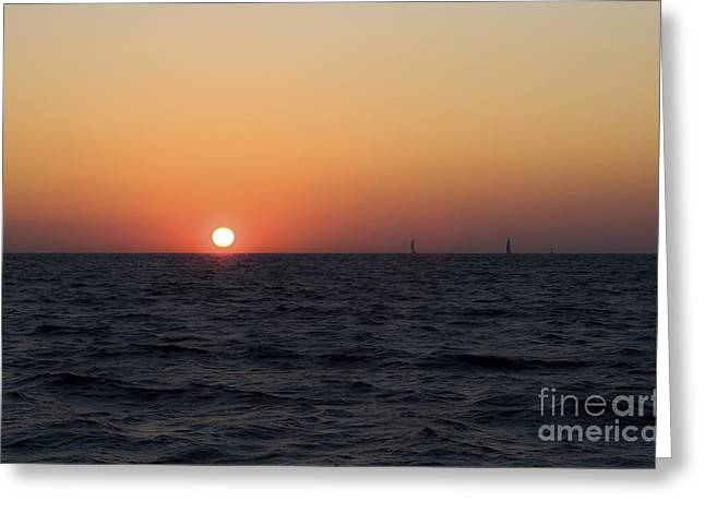 Greeting Card featuring the photograph Sunset by Leslie Leda