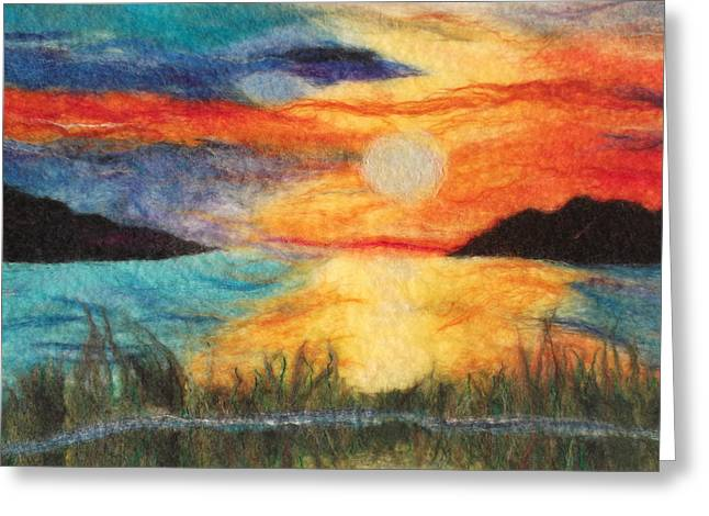 Sunset Loch Greeting Card