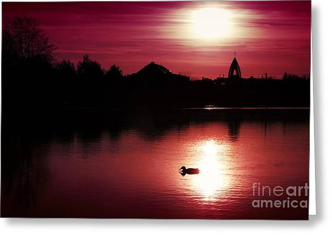 Sunset Greeting Card by Martin Dzurjanik