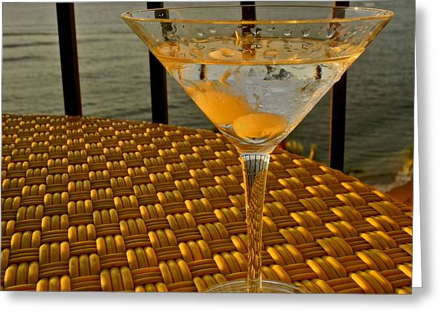 Sunset Martini In Maui I Greeting Card by Kirsten Giving