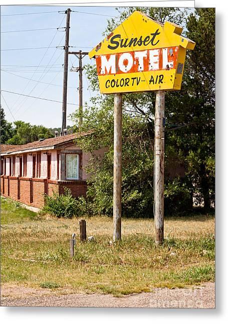 Sunset Motel Greeting Card