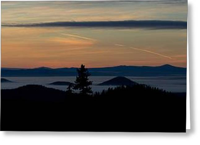 Sunset Near Mt. Bachelor Greeting Card by Twenty Two North Photography