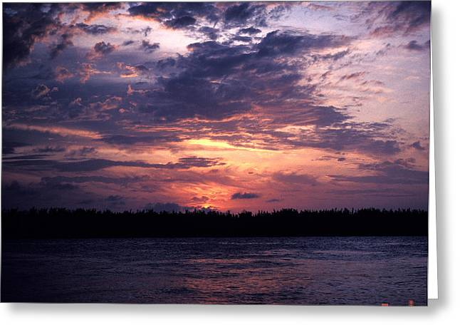 Greeting Card featuring the photograph Sunset Off Mallory Square 14s by Gerry Gantt
