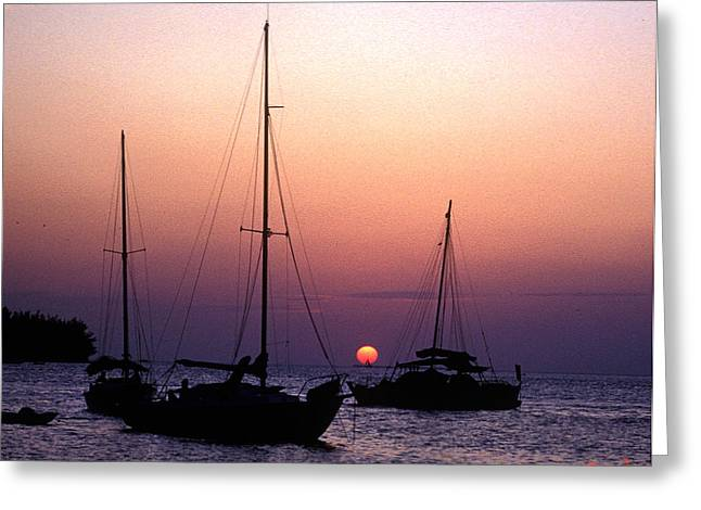 Greeting Card featuring the photograph Sunset Off Simonton Street 14e by Gerry Gantt