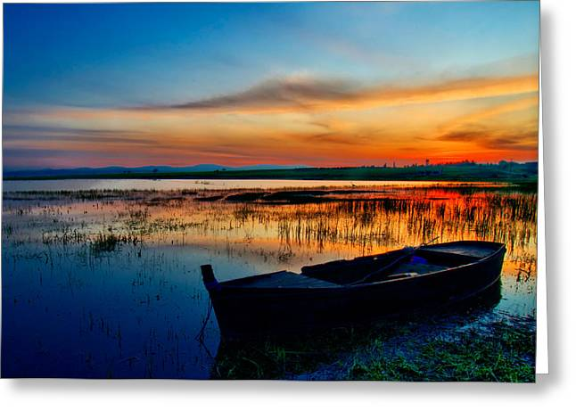 Greeting Card featuring the photograph Sunset by Okan YILMAZ