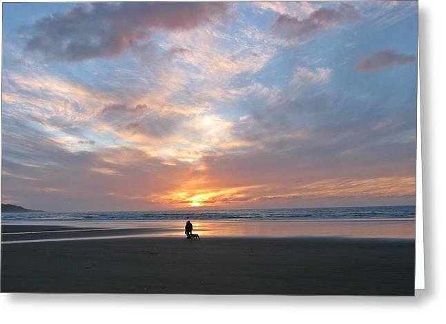 Sunset On 90 Mile Beach Greeting Card by Judy Watson