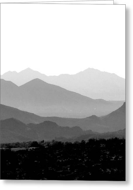 Sunset On Arizona Mountains Greeting Card by Joe Johansson