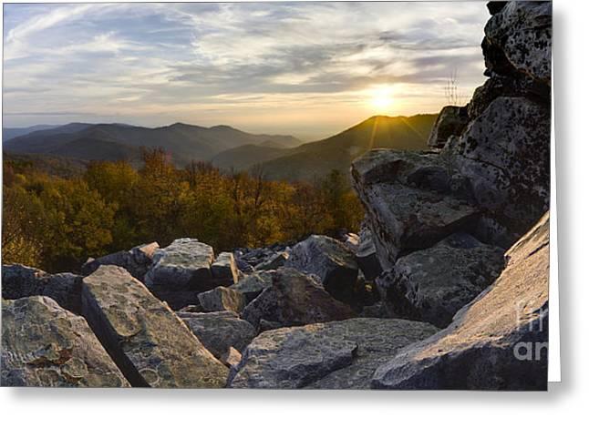 Sunset On Black Rock Mountain Greeting Card by Dustin K Ryan