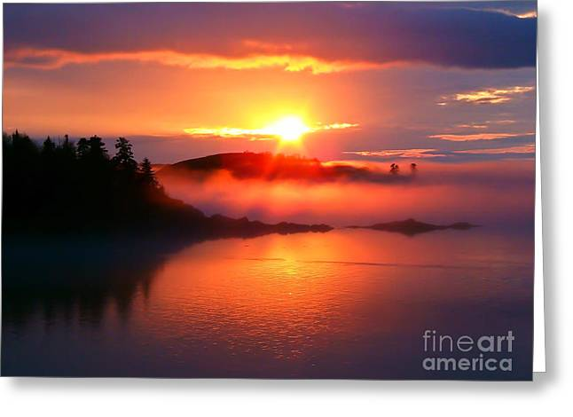 Sunset On Campobello Island  Greeting Card by Edward Fielding
