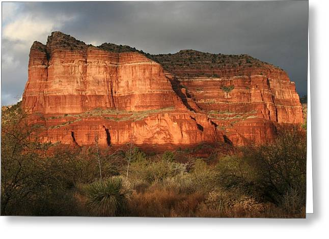 Sunset On Courthouse Butte Greeting Card by Jimmy Fox