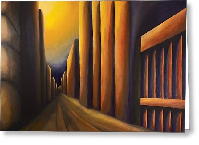 Sunset On De Maisonneuve Greeting Card by Duane Gordon