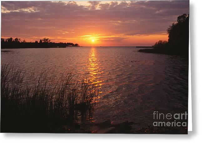 Sunset On Eagle Harbor Greeting Card