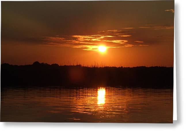 Sunset On Lake Wylie Greeting Card