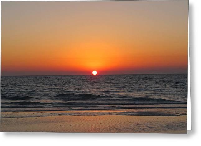 Sunset On Longboat Key Greeting Card by Loretta Luglio
