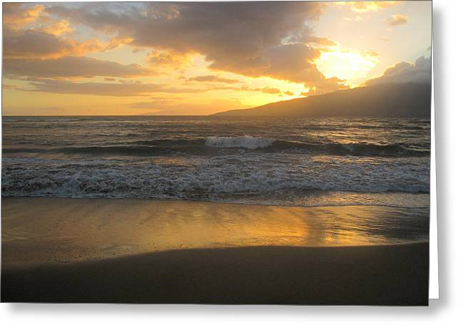 Sunset On Maui Greeting Card