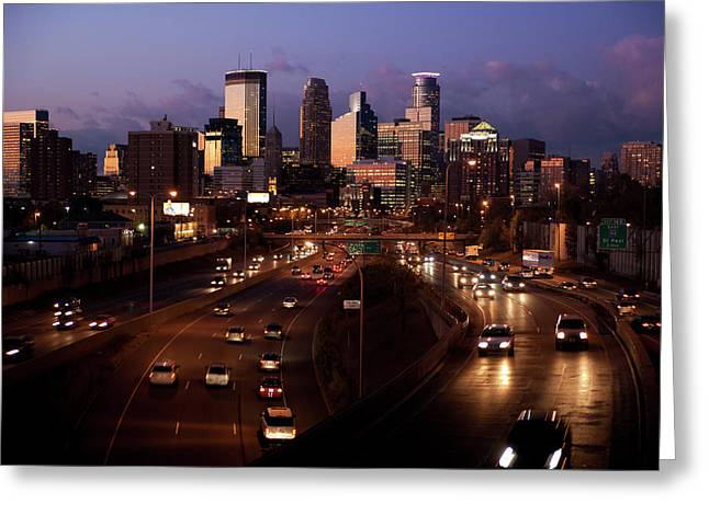 Sunset On Minneapolis Greeting Card