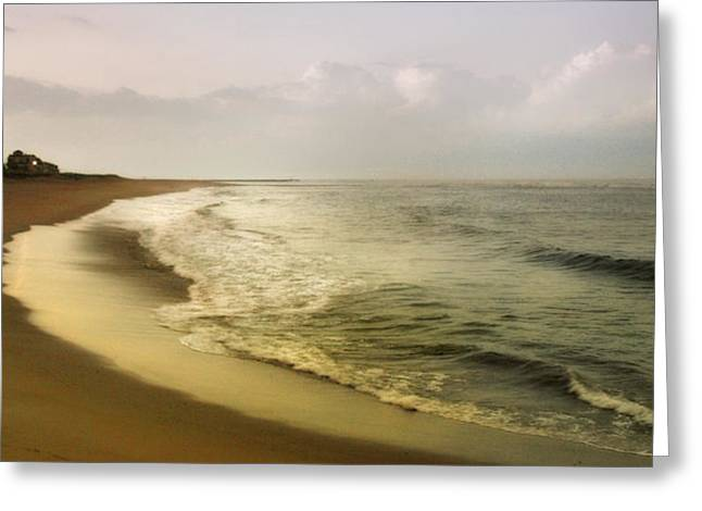 Greeting Card featuring the photograph Sunset On Plum Island by Karen Lynch