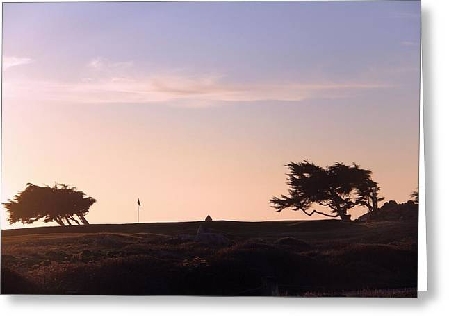 Sunset On Spyglass Greeting Card by Gerry Fortuna
