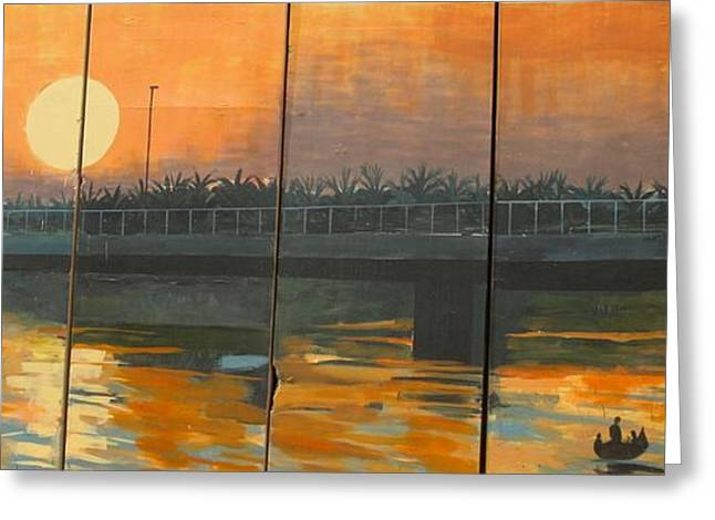 Sunset On The Canals Greeting Card by Unknown - Local Iraqi National