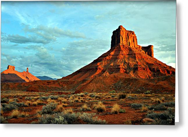 Sunset On The Mesa Greeting Card by Marty Koch