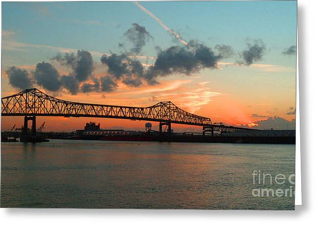 Sunset On The Mississippi  Greeting Card