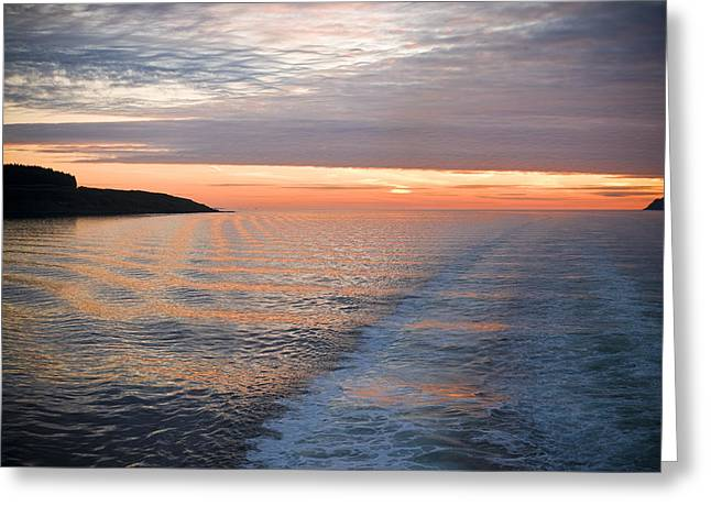 Sunset On The Sound Of Mull Greeting Card