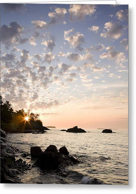 Sunset On The South Shores Of Lake Greeting Card by Susan Dykstra