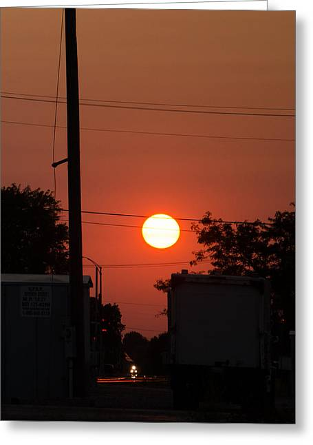 Sunset On The Up Greeting Card by Dan Crosby