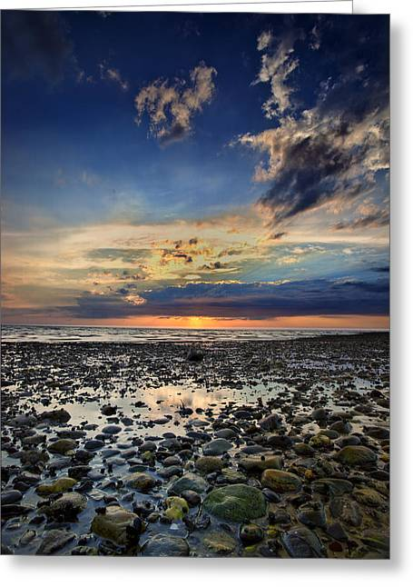 Sunset Over Bound Brook Island Greeting Card by Rick Berk