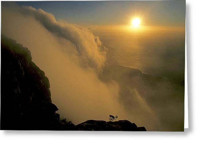 Sunset Over False Bay Near The Cape Greeting Card by Gordon Wiltsie