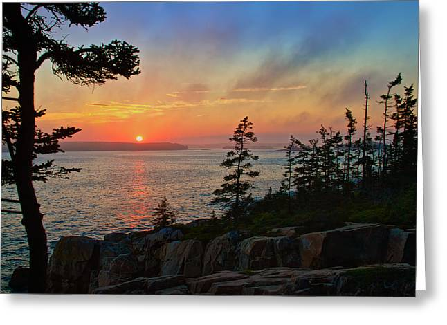 Sunset Over Frenchman's Bay Greeting Card