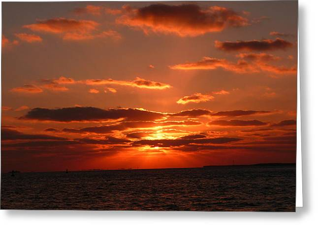 Greeting Card featuring the photograph Sunset Over Key West by Jo Sheehan