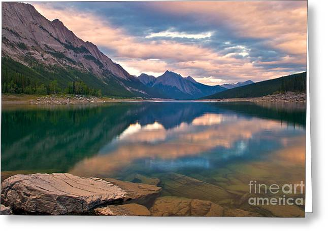 Sunset Over Medicine Lake Greeting Card by James Steinberg and Photo Researchers