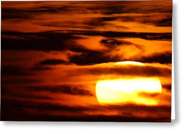 Sunset Over The Mecsek Mountains Greeting Card by Joe Petersburger