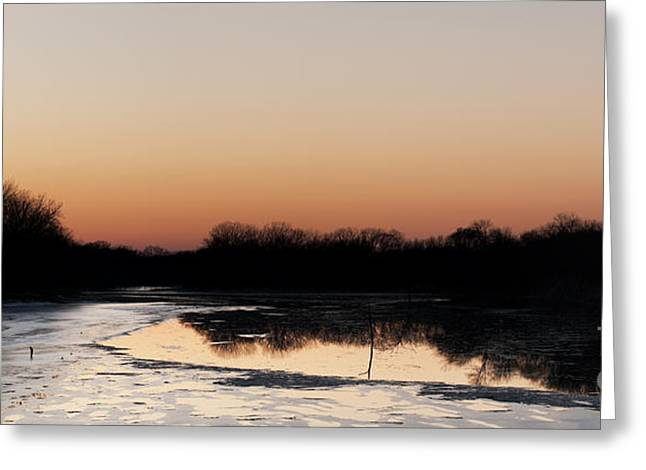 Sunset Over The Republican River Greeting Card by Art Whitton