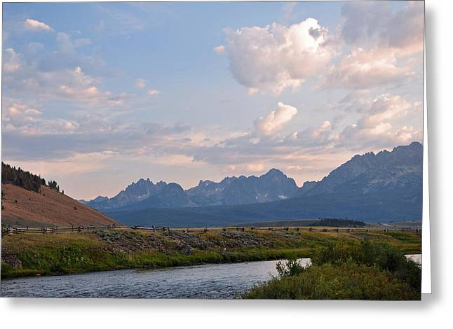 Sunset Over The Salmon River Greeting Card