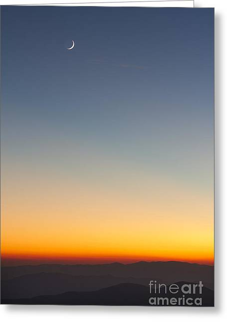 Sunset Over The Smokie Mountains National Park Greeting Card