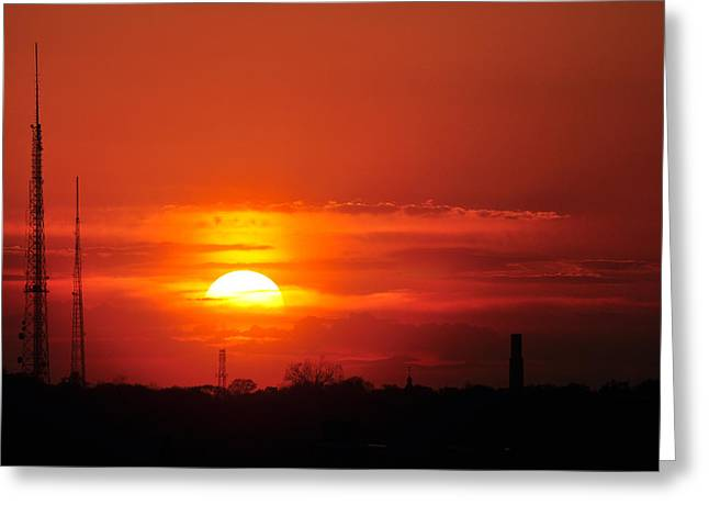 Sunset Over Washington Dc Greeting Card