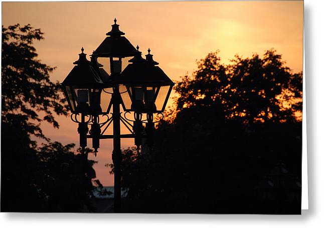 Greeting Card featuring the photograph Sunset Place Vouquelin by John Schneider